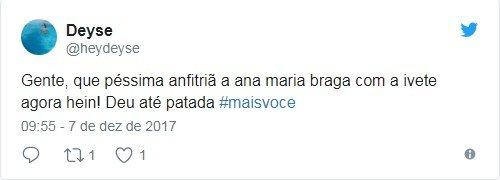 Twitter/Ivete/Ana Maria