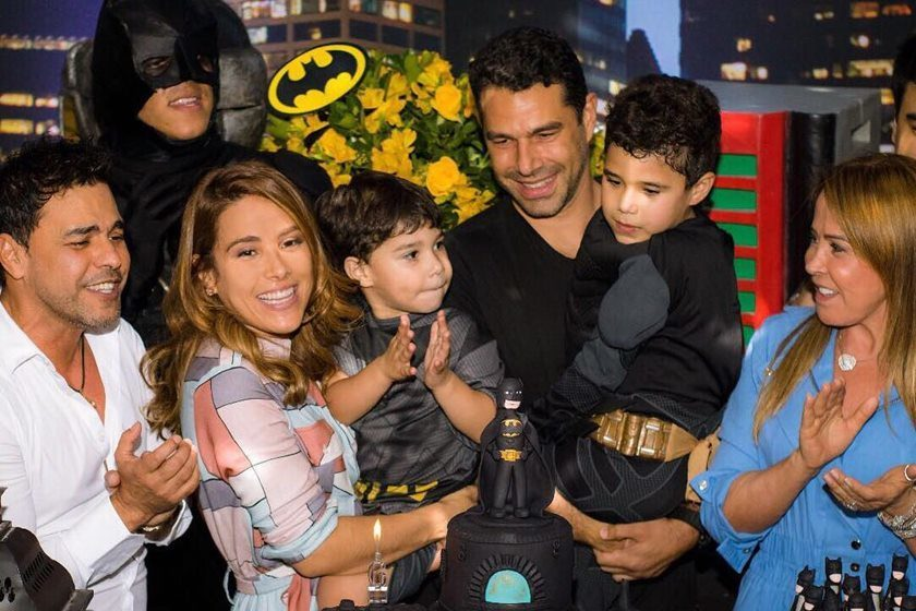 Zezé Di Camargo e Zilu se encontram no aniversário do neto — Família