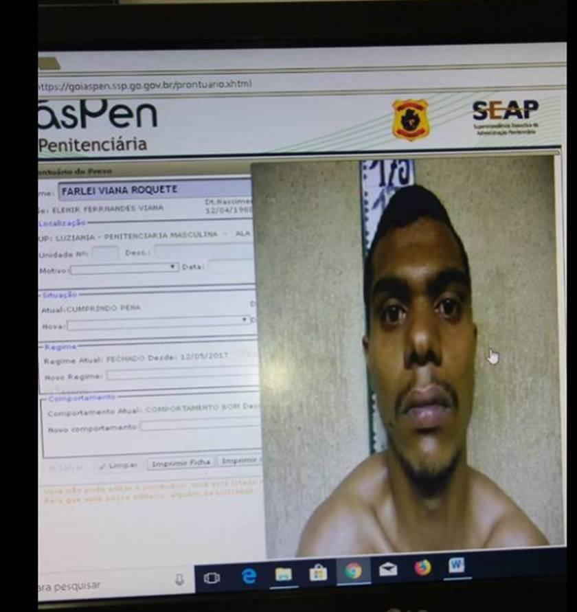 Preso filma fuga de detentos em presídio de GO; veja vídeo