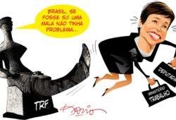 Resultado de imagem para cristiane brasil charges