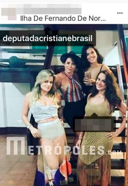 cristiane brasil e amigas em noronha
