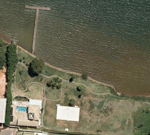 foto aérea casa romário ql 24 lago sul