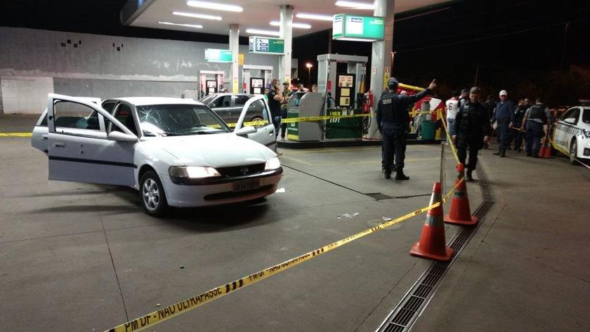 Rajada de tiros em posto de gasolina do DF deixa seis pessoas feridas