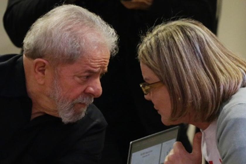 Luiz Inácio Lula da Silva e Gleisi Hoffmann