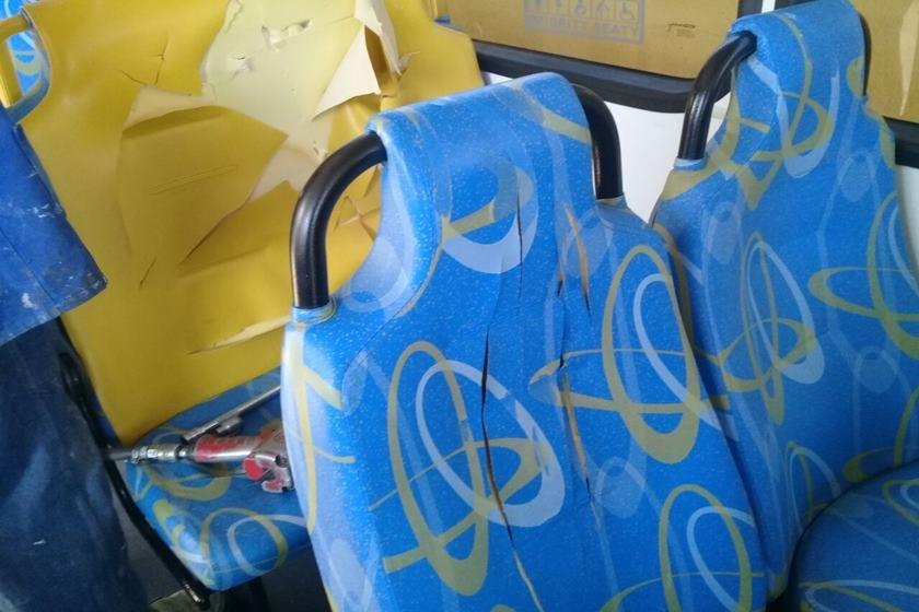 ônibus depredados carnaval