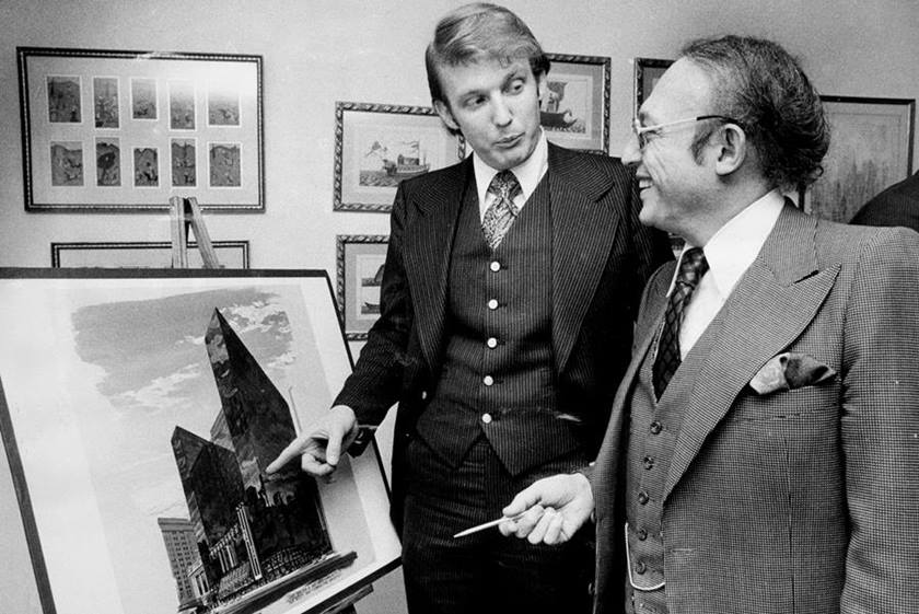 Donald Trump with Alfred Eisenpreis, New York City Economic