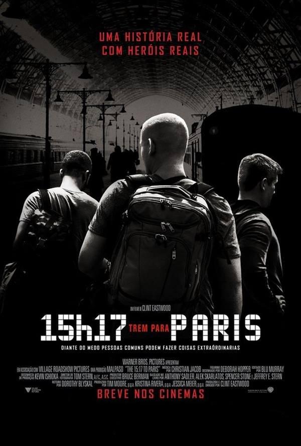 15h17 trem para paris pôster