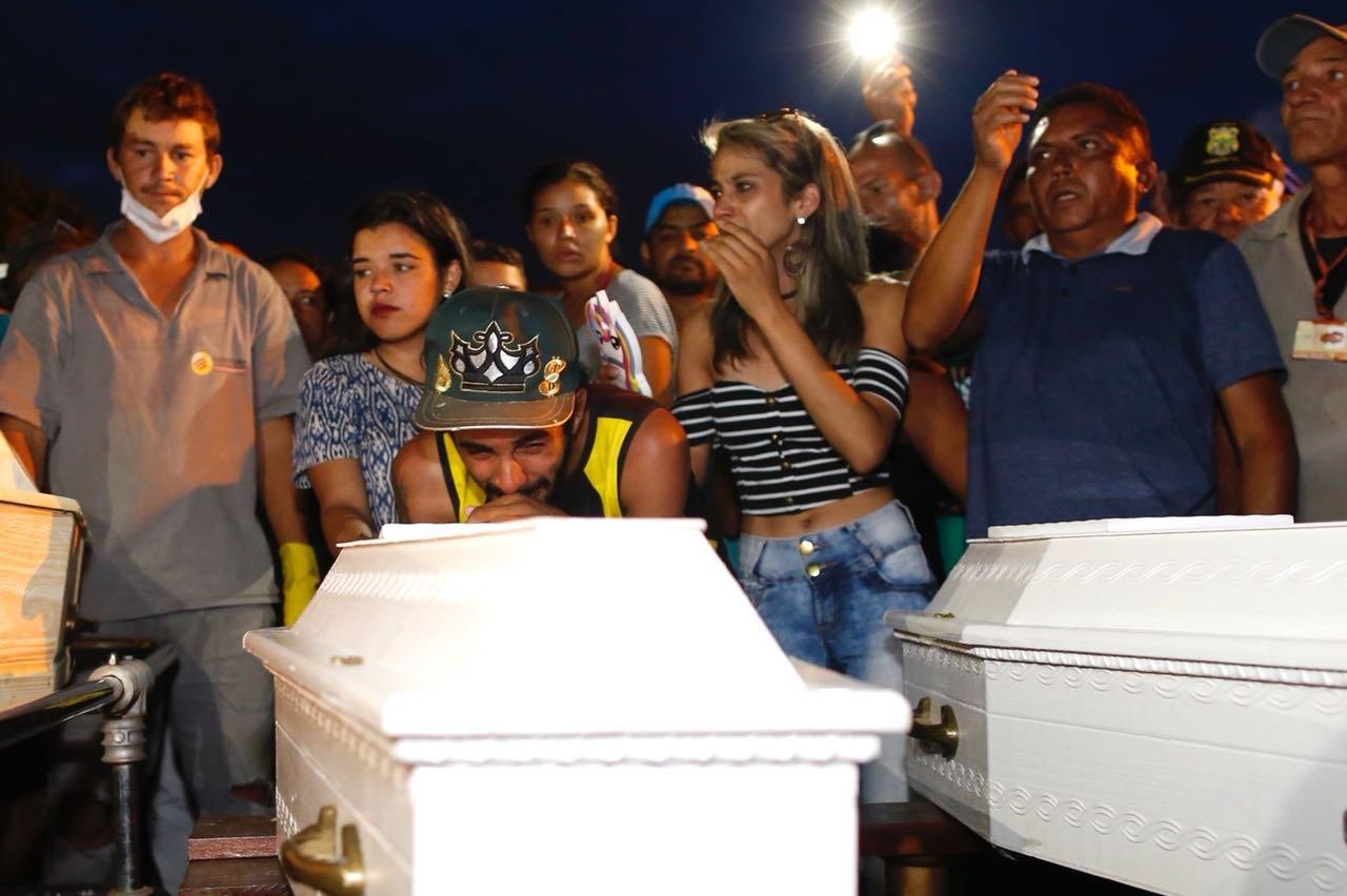 enterro mulher e dois filhos em águas lindas