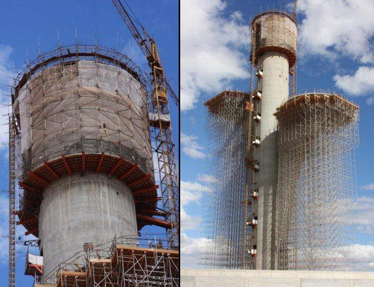 detalhe da construção do cálice da Torre Digital - ArPDF