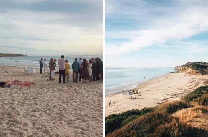 Mulher se recusa a sair de praia