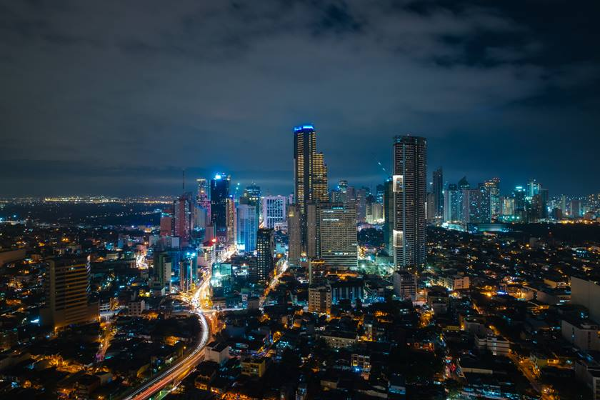 Manila skyline at night