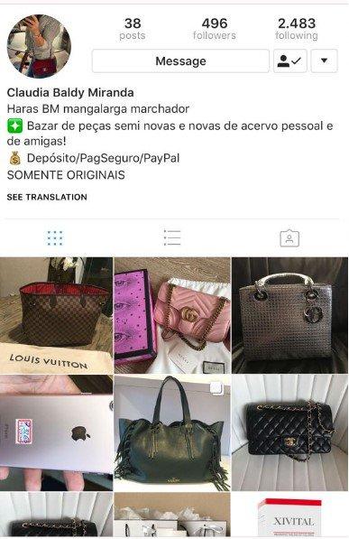 be72d6fe9 Empresário da moda caiu no golpe das bolsas de grife anunciadas na web