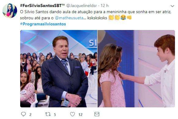Screenshot 546 - Silvio Santos pede cena romântica a crianças e causa polêmica na web