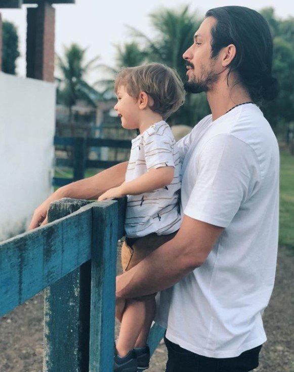 Romulo Estrela e filho