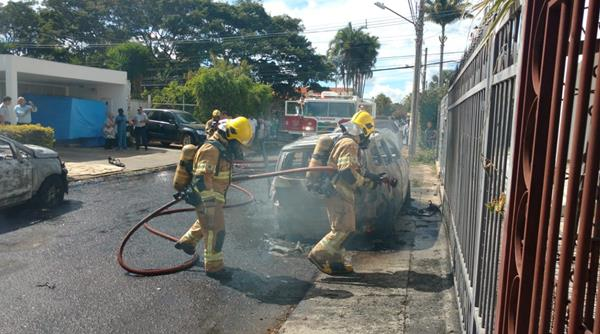 incêndio, carros, embaixada de guiné-bissau