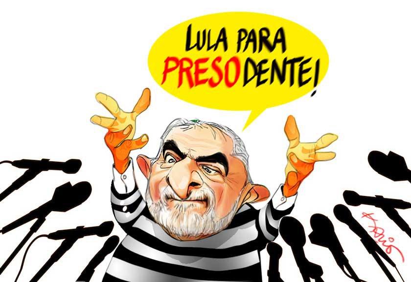Resultado de imagem para lula preso charges
