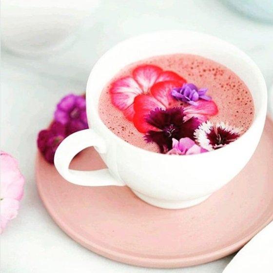 Rose latte