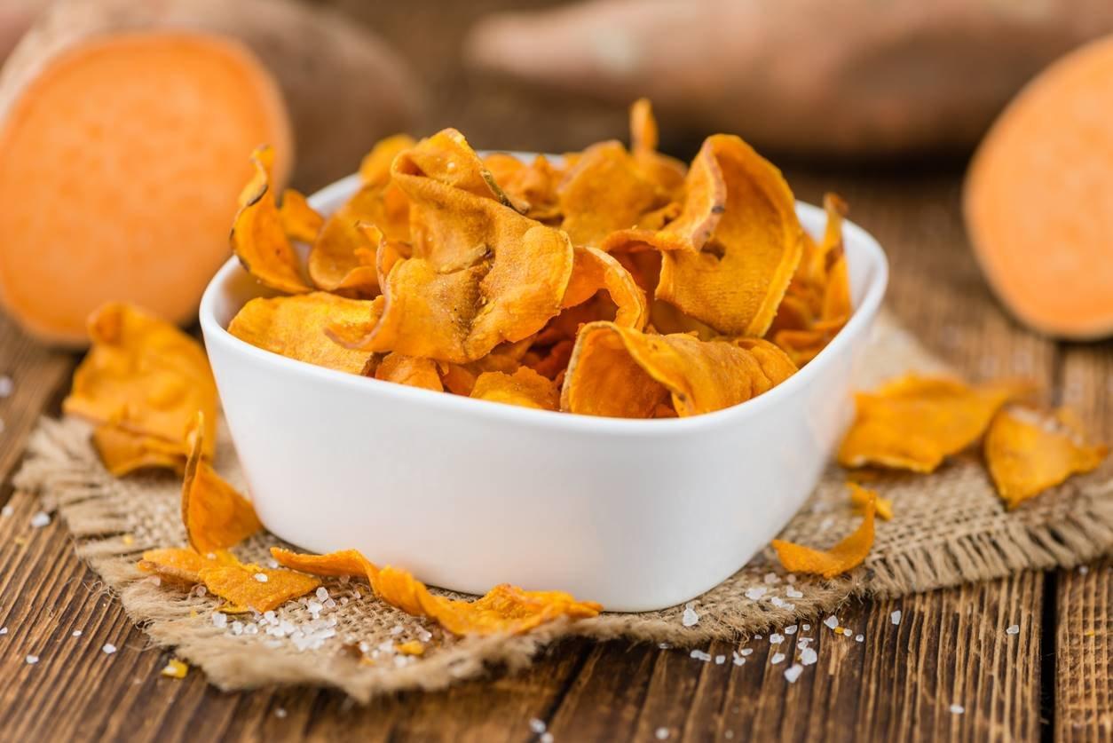 Fresh made Sweet Potato Chips
