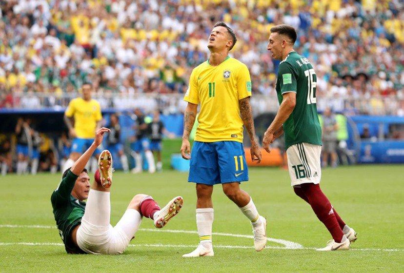philippe coutinho brasil méxico