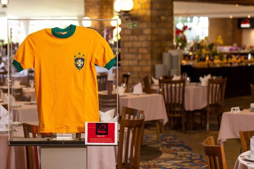 Exposição de camisas relacionadas à copa