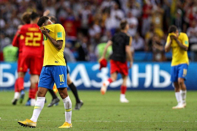 1e14e8fa18 Brasil perde para a Bélgica e está fora da Copa do Mundo  2 x 1