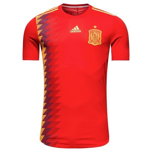 Espanha, titular - Uniforme Copa do Mundo - Vermelho