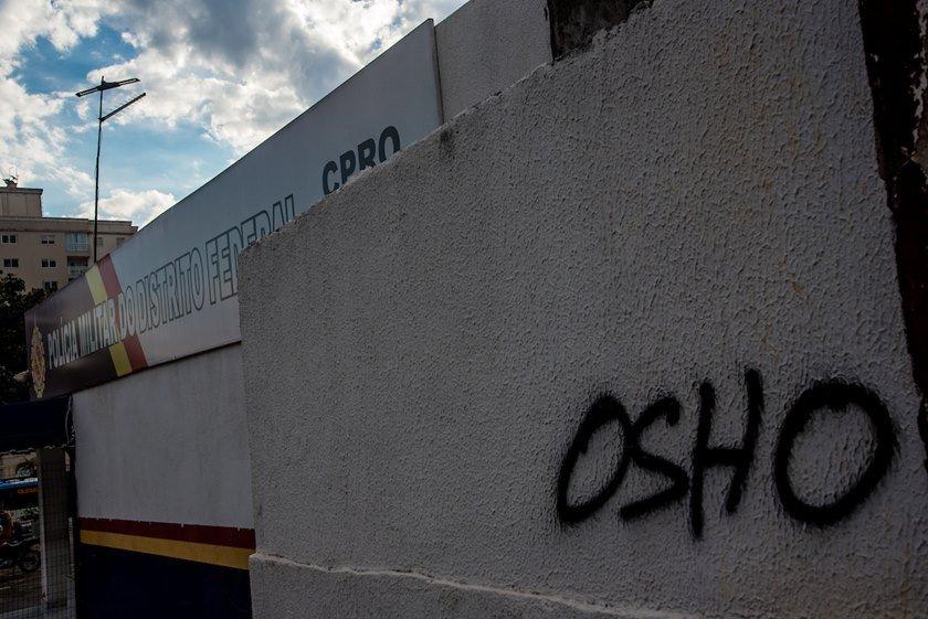 Brasília(DF), 11/07/2018 GDF cria lei que trata com mais rigor pichadores, mas até hoje ninguém foi punido Local:Brasilia Clube Foto: Hugo Barreto/Metrópoles