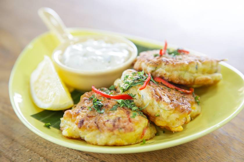Tuna croquettes with lemon dill yogurt