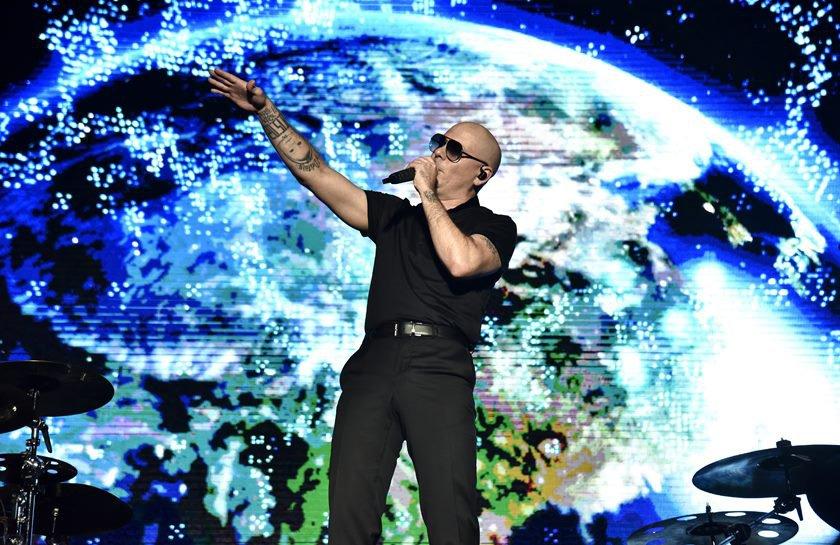 Pitbull Performs At Lake Tahoe Outdoor Arena At Harveys