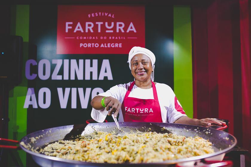 Chef de cozinha no Festival fartura