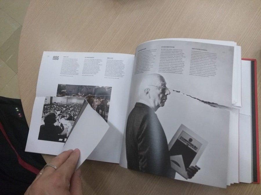 Livros sobre direitos humanos rasgados na BCE UNB