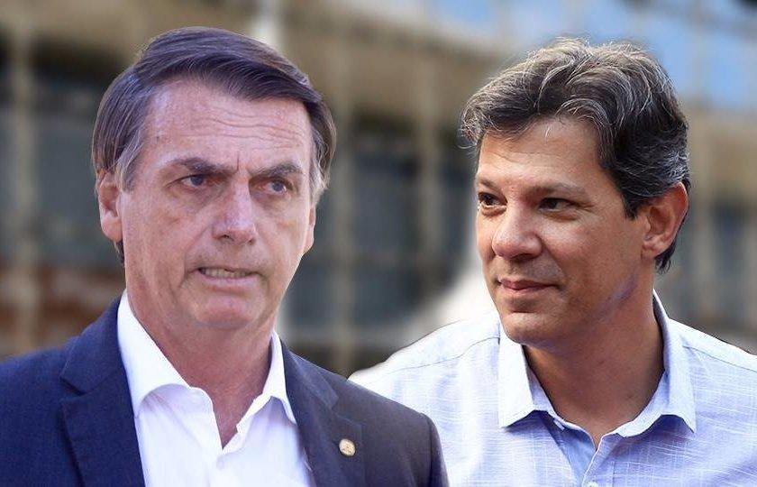 Resultado de imagem para Bolsonaro tem 59% e Haddad tem 41% na disputa à Presidência, diz pesquisa