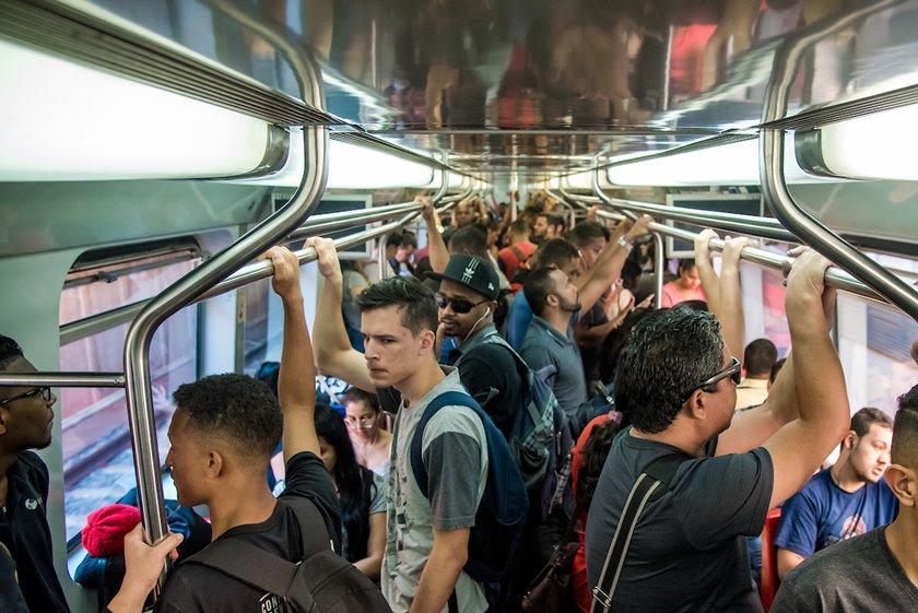 Brasília (DF), 11/10/2018 DF NA REAL  Metrô Local:  Metrô Foto: Hugo Barreto/Metrópoles