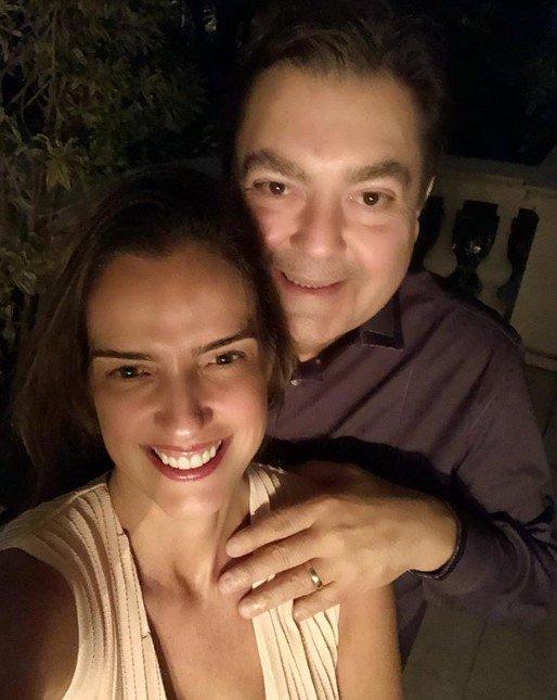 Luciana Cardoso e Faustão