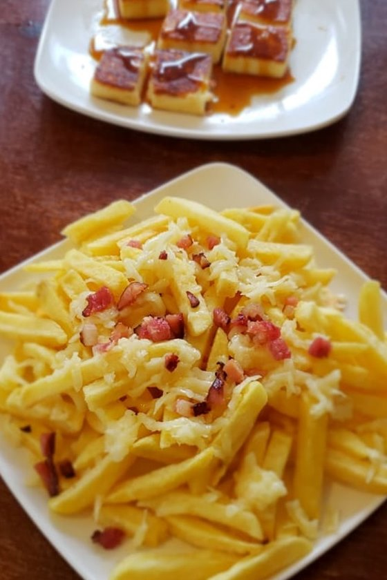 batata frita e queijo coalho