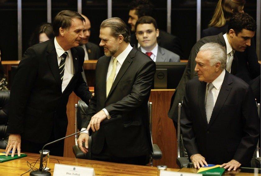 Bolsonaro, Toffoli e Temer