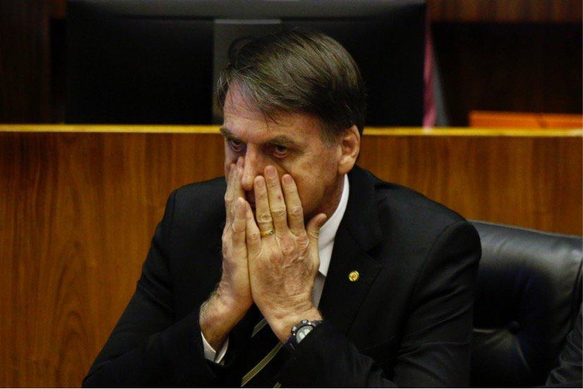 Jair Bolsonaro durante sessão do Congresso