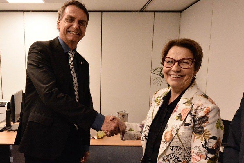Jair Bolsonaro e Tereza Cristina