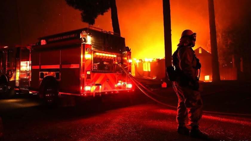 Incêndio na Califórnia