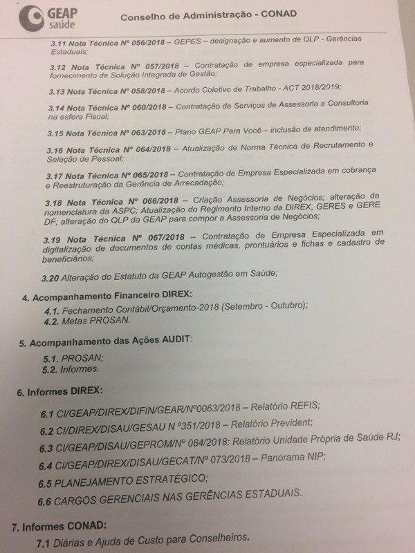 programação da reunião Geap2
