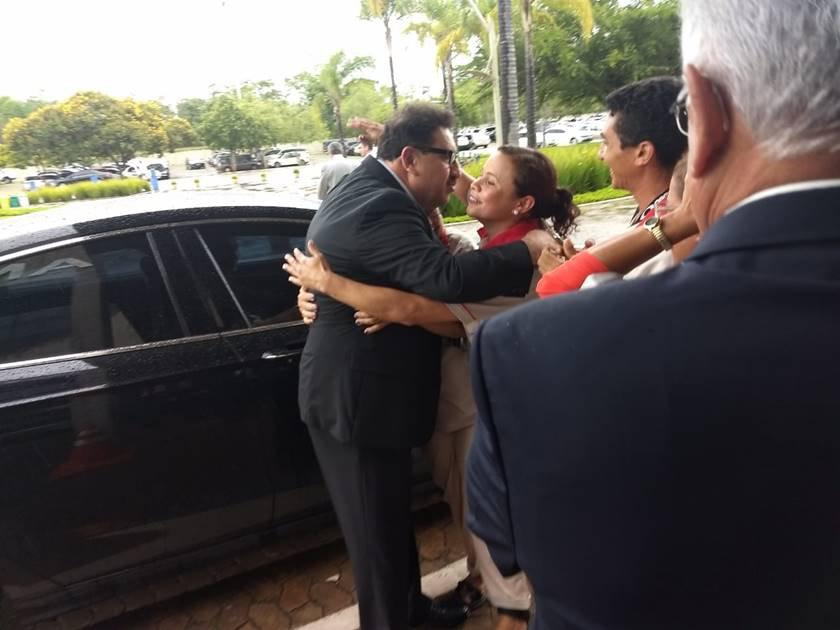 Ratinho visita Bolsonaro