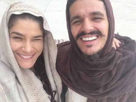 PriscilaFantin e Bruno Lopes em A PAIXAO DE CRISTO instagram