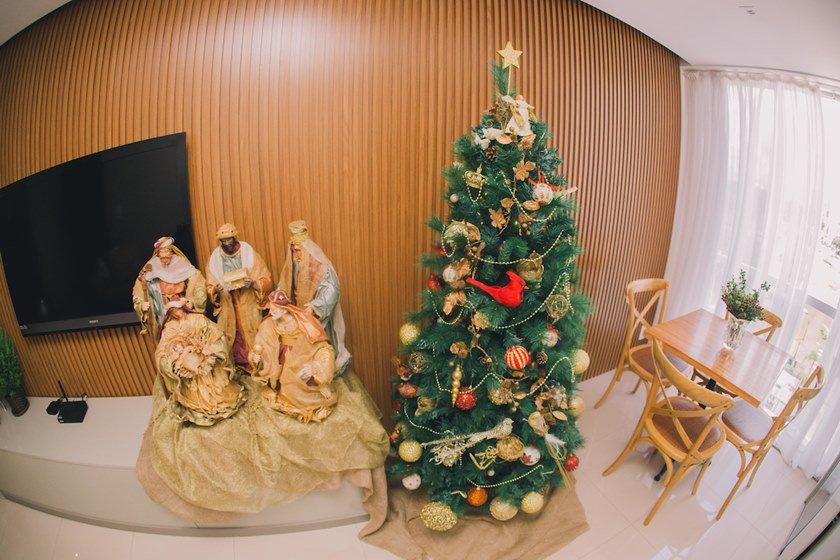 Brasília (DF), 06/12/2018  - Evento: decoração de Natal (Maristela) -  Local SQNW 109, bloco H ap 401 (Noroeste)  Foto: JP Rodrigues/Especial para Metrópoles