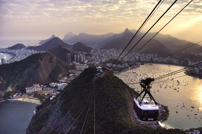 Sugarloaf Cable Car at sunset
