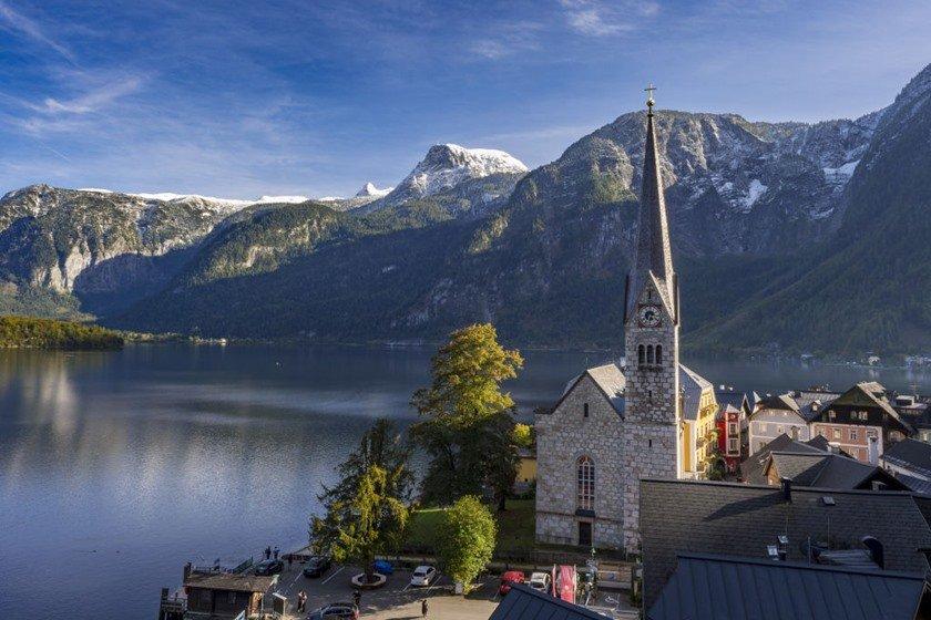 Village of Hallstatt, Lake Hallstatt, Austria, Europe