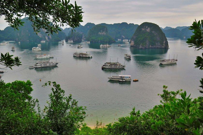 Dschunken Halong-Bucht Vietnam
