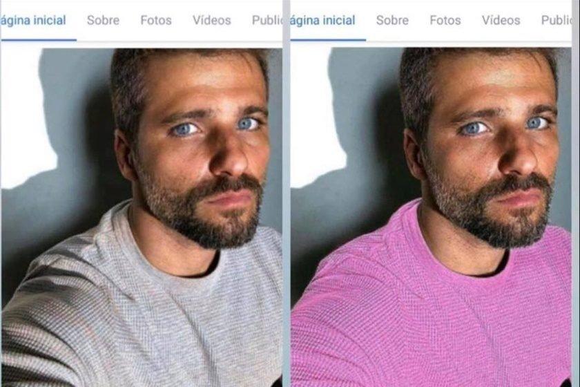 """Bruno Gagliasso é detonado por maquiador após foto com """"camisa rosa"""" 84e96493d22bc"""