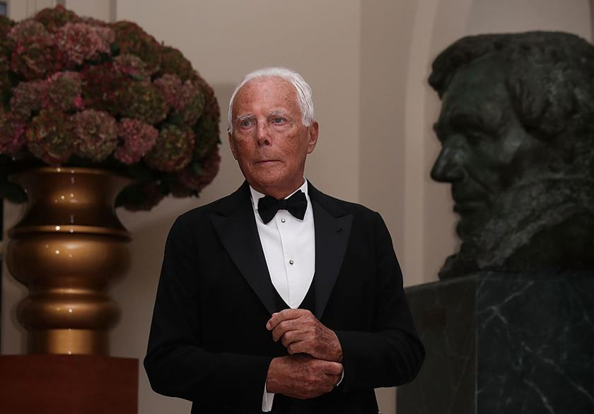 WASHINGTON, DC - OCTOBER 18:  Fashion designer Giorgio Armani arrives at the White House for a state dinner October 18, 2016 in Washington, DC. U.S. President Barack Obama is hosting a state dinner for Prime Minister of Italy Matteo Renzi and his wife Agnese Landini.  (Photo by Alex Wong/Getty Images)
