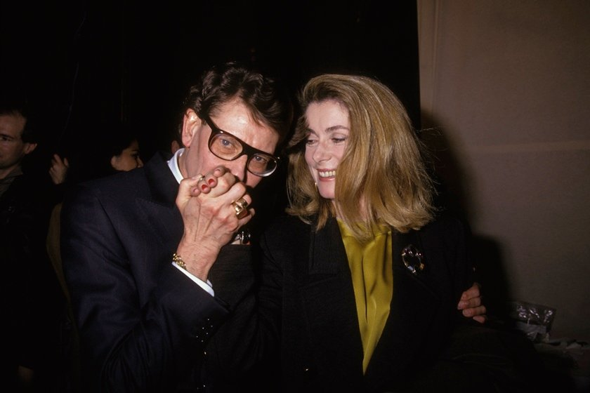 Yves Saint-Laurent e Catherine Deneuve