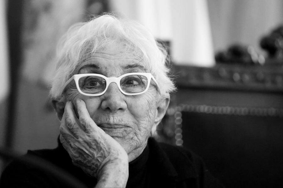 The film director, Lina Wertmuller, during a press